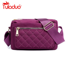 New Zipper Nylon Waterproof Shoulder Crossbody Bags Solid Versatile Fashion Womens Messenger Bag Female Handbags