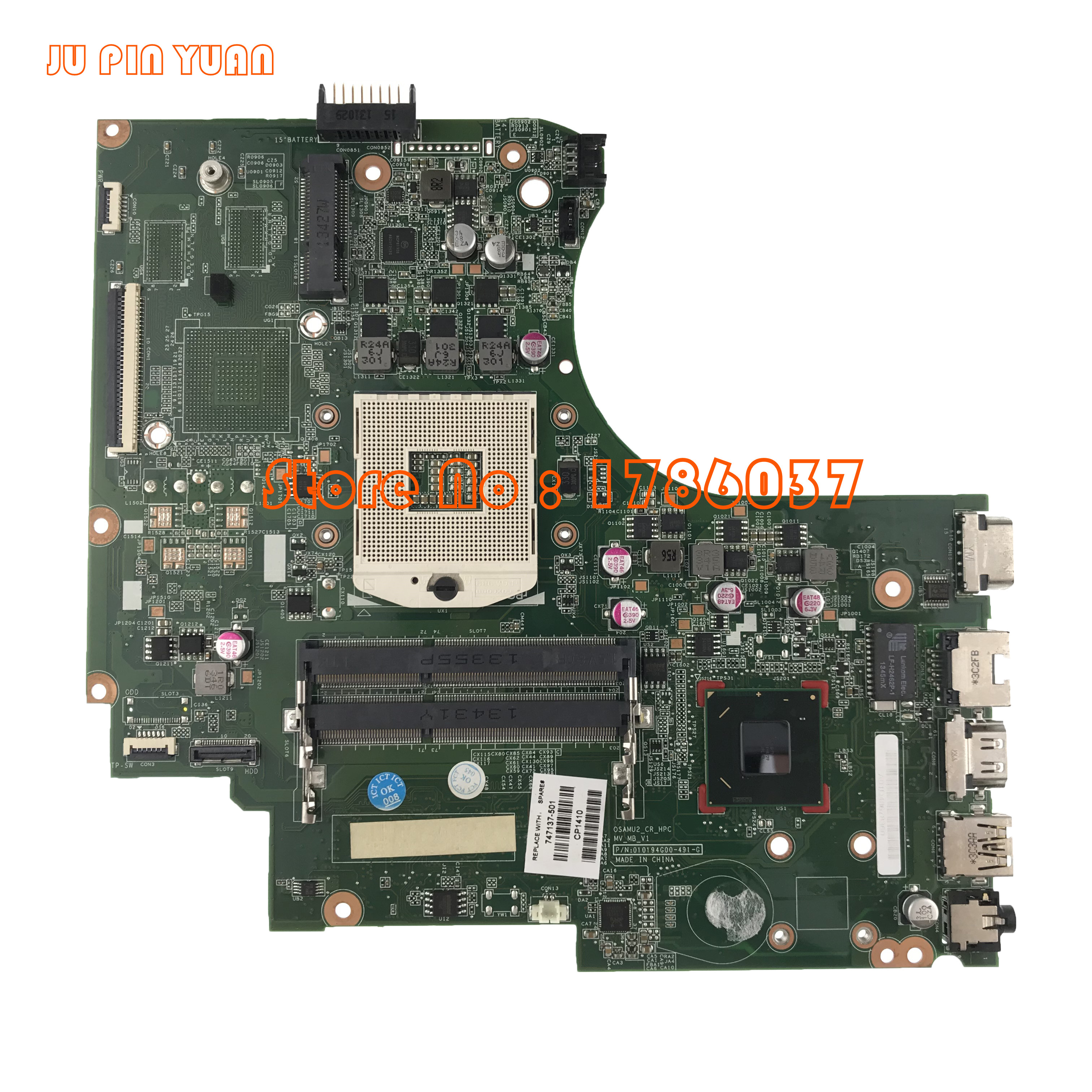 JU PIN YUAN 747137-001 747137-501 747137-601 For HP 15-D 250 G2 Laptop Motherboard All Functions Fully Tested