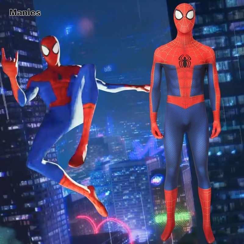 Marvel spider-man: na aranha-verso traje adolescente milhas morales cosplay adulto halloween natal carnaval festa de super-heróis