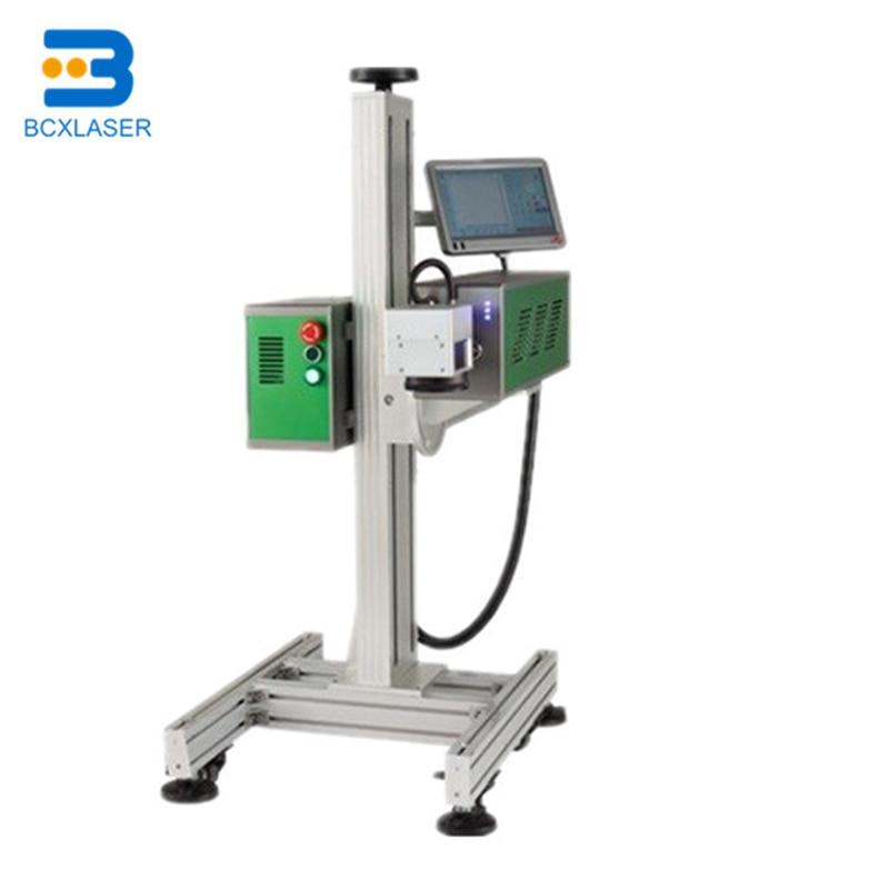 BCX Portable 20W 30W Portable Fiber Flying Laser Marking Machine Online Print For PVC Pipe