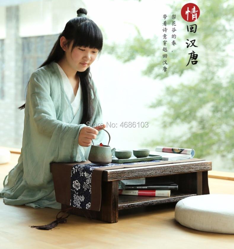 Table à thé chinoise taille 60x35x20 cm table basse en bois de Paulownia pour salon tables d'appoint meubles petite table