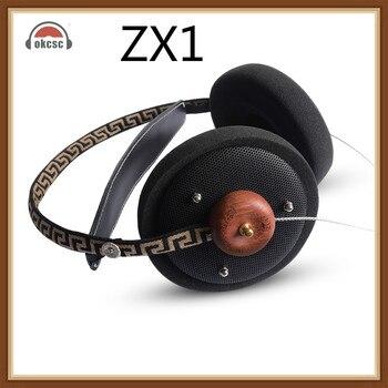 Okcsc ZX1 Hifi ستيريو خشبية الإفراط في الأذن سماعة 57 مللي متر المتكلم فتح جهاز مراقبة الصوت سماعة مع 3. 5 مللي متر كابلات الفضة مطلي