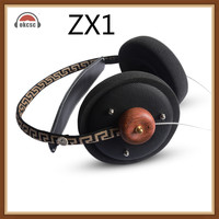 Okcsc ZX1 Hifi Stereo Wooden Over Ear Headphone 57mm Speaker Open Voice Monitor Headset With 3 .5mm Silver Plated Cables