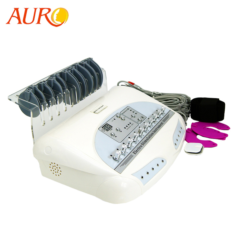 AURO 2019 Personlig Au-6804 Ryssland Wave Male Elektro Muscle Stimulator Body Slimming Massage Machine med bäst resultat