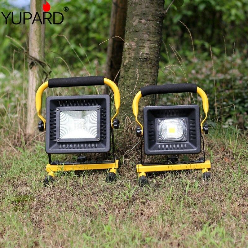 Lampe Led projecteur Portable Led Lampe de travail Rechargeable 18650 batterie lumière extérieure pour la chasse Camping Led Lampe de poche latérale