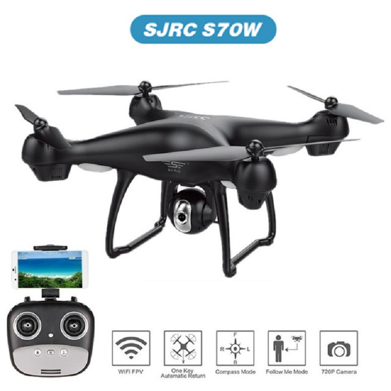 S70W GPS FPV RC Drone With Camera 1080P HD Adjustable Wide-Angle WiFi Live Video Follow Me GPS Return Home RC Quadcopter Drons image