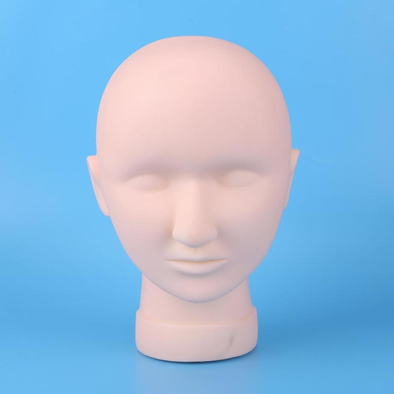 Closed Eyes Fake Mannequin Head Makeup Eyelash Extension Practice Model Showcase Wigs Hats Hairs Glasses Display