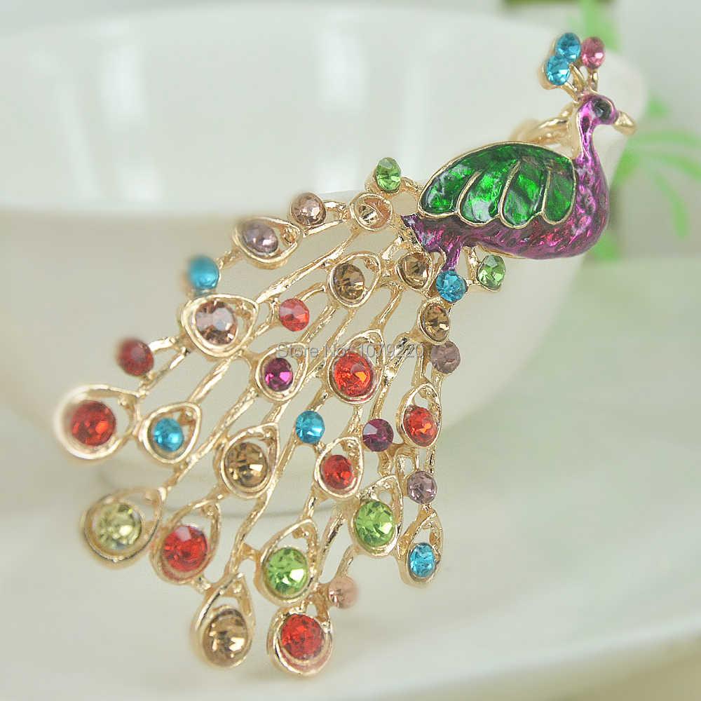 Cute Pea Keyring Rhinestone Crystal