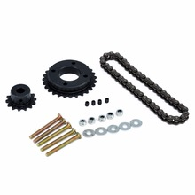 DIY Sprocket Chain Wheel Set For Stainless Steel Electric Longboard Skateboard Parts Repalcement Accessories