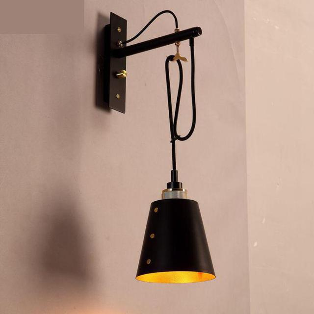 Wall mounted Industrial Bar lighting wall Lamp Creative Single Coffee store Aisle Stairs Wall Lights For Home Retro Bedside Lamp