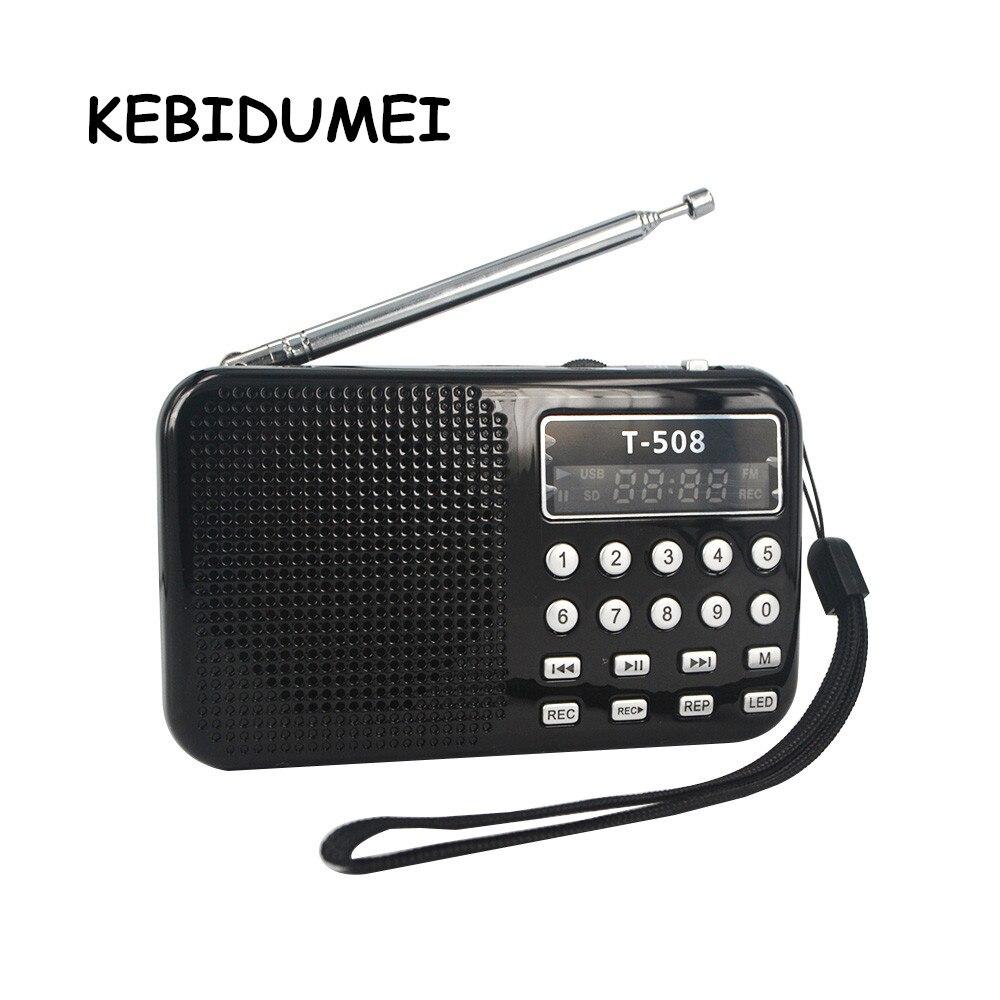 Tragbares Audio & Video Unterhaltungselektronik Begeistert Kebidumei Tragbare Mini Led Stereo Fm Radio Lautsprecher Usb Port Tf Karte Mp3 Musik Player Mit 3 Farbe 50mm Interne Magnetische Radio HöChste Bequemlichkeit