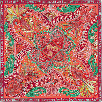 Fashion Women   Scarf   Luxury Brand Paisley Hijab 100% Twill Silk Shawl Scarfs Ladies Foulard Square Head   Scarves     Wraps   2019 Newest