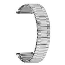 Серебристый/золотистый эластичный ремешок для часов из нержавеющей стали сменный мужской ts для мужчин и женщин наручные часы браслет ремешок без пряжки Новинка