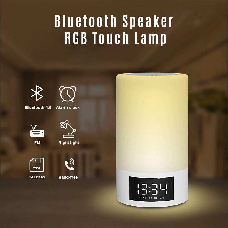 Portable Bluetooth 4 0 Speaker With Bedroom Table Lamp