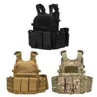 Outdoor Tactical Molle Nylon Hydration Bag Hunting Vest Camo Bags Military Army Combat Vest Hydration Pouch Backpack
