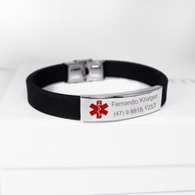 Medical Alert ID Bracelets Personalized Engraved Medical Sign Bracelet Custom Name Stainless Steel Hand Jewelry For Women Men personalized stainless steel black silicone men bracelet gift men s id bracelets for man male jewelry custom engraved name