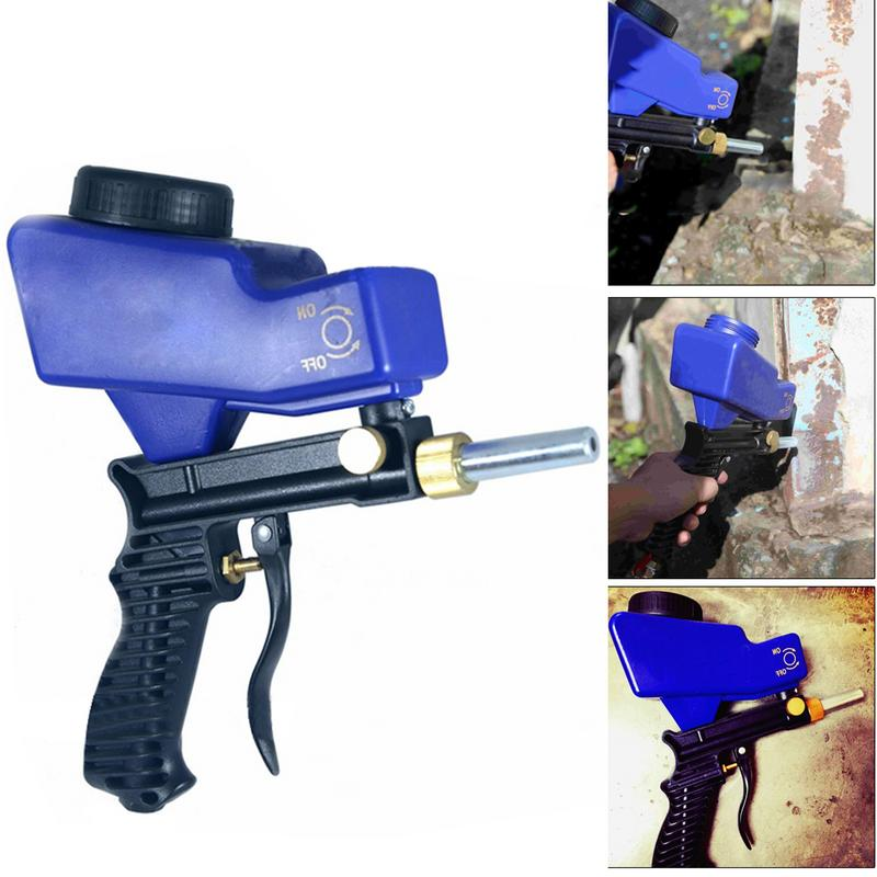 Miniature Portable Gravity Feed Sandblasting Gun Air Sandblaster Gun Sand Spray Gun For Rust Remove Sandblaster
