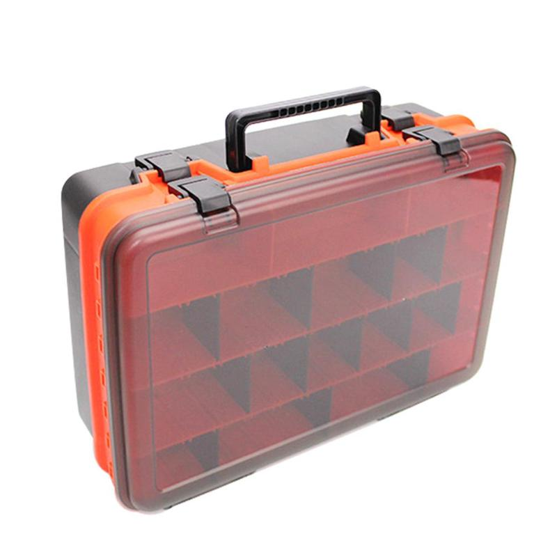 Portable Outdoor Fishing Storage Box Lure Bait Hooks Tackle Tool Container 2 Sides Plastic Case OrganizerPortable Outdoor Fishing Storage Box Lure Bait Hooks Tackle Tool Container 2 Sides Plastic Case Organizer