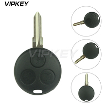 Remotekey remote key fob cover replacement 3 button For Mercedes Smart Fortwo car key shell
