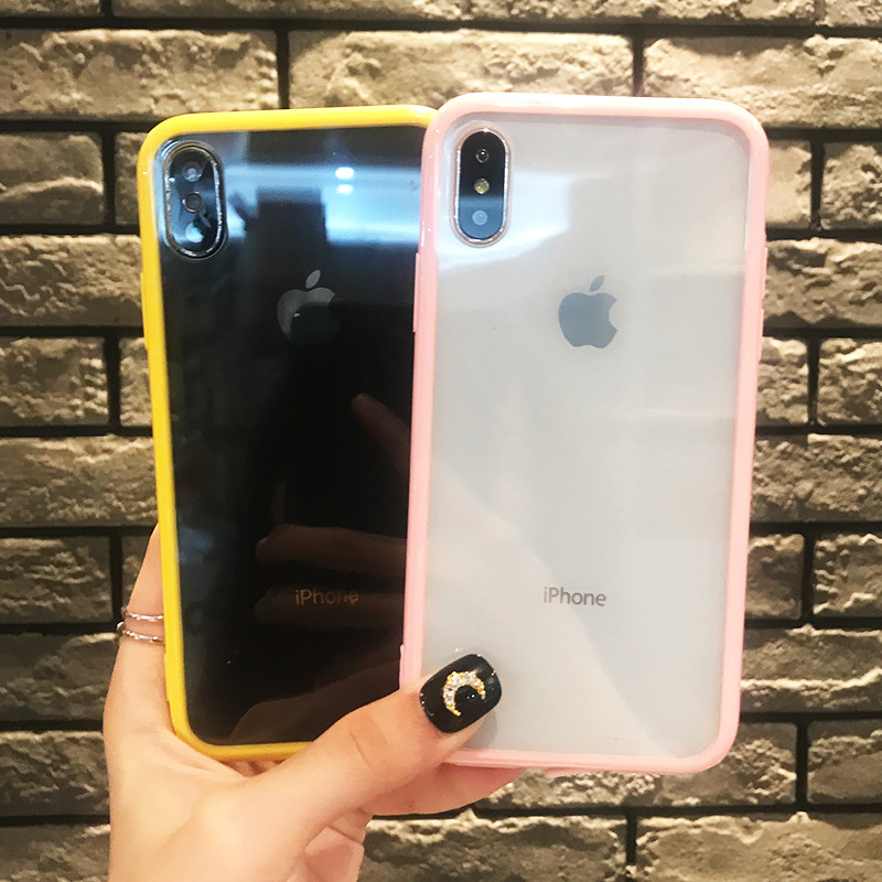 Transparent Acrylic Phone Case for IPhone X 6 XS 6S 7 8 XR XS MAX Case for IPhone 6 7 6S 8 Plus All inclusive Back Cover in Fitted Cases from Cellphones Telecommunications