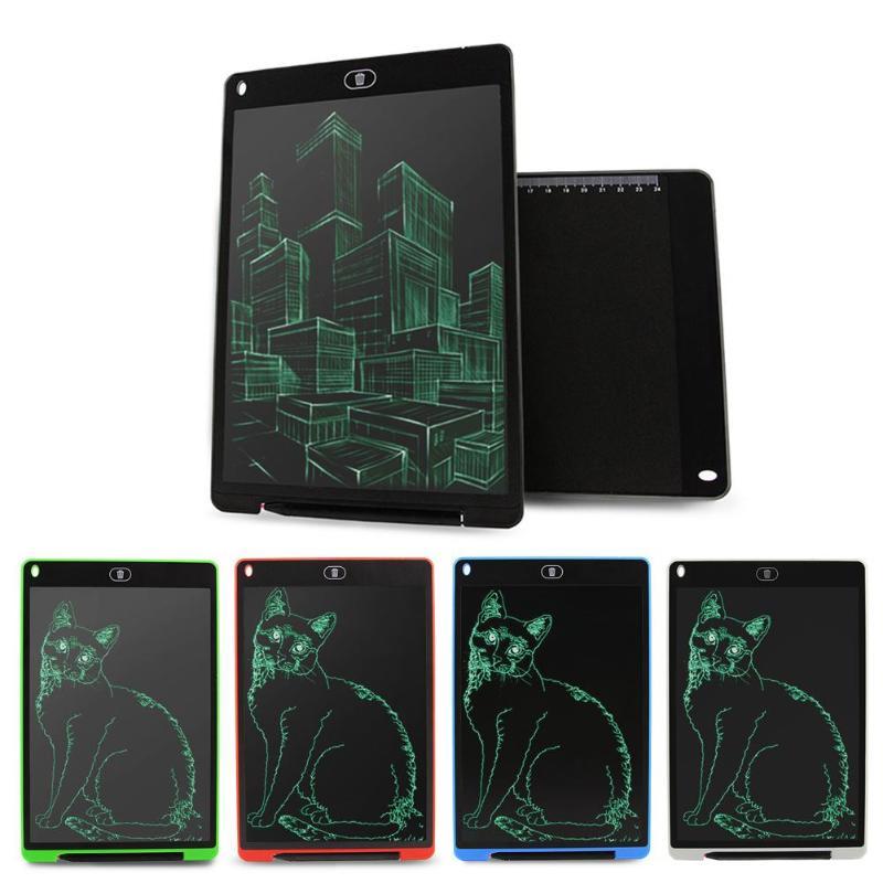 12 Polegada LCD Escrita Tablet de Desenho Digital Tablet Teclado de Escrita Gráficos Placa de Bloco de Notas Com CR2032 Eletrônico Portátil Bateria