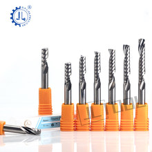 JIALING 1pc 3.175mm One flute carbide end mill One Flute Spiral Bits and CNC Machine Cutting Tools Carbide Milling cutter