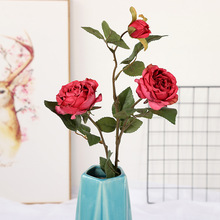 Simulated Rose Bundle Spot European Silk Wholesale Wedding Home Rural Permanent Decoration Fake Flowers