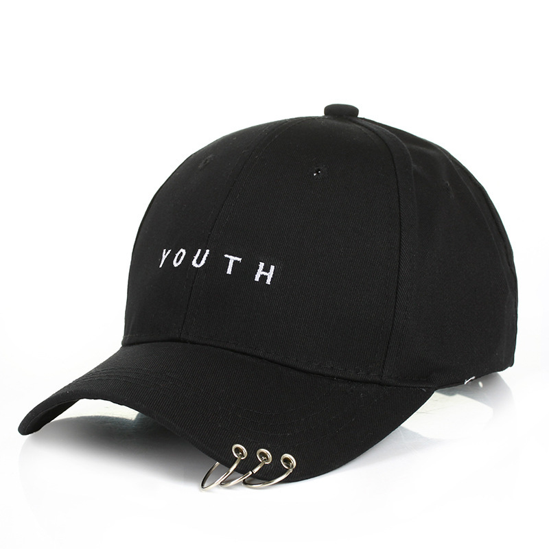 New Lovers Four Seasons Cotton Wild Rings Letter Snapback Youth Baseball Cap Korean Fashion Couple Personality Cap