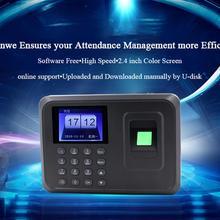 Biometric Fingerprint Time Attendance Clock Recorder Employee Recognition Office Device Electronic Machine Five languages