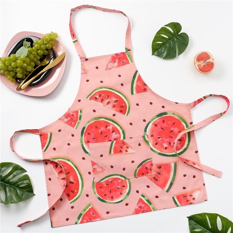 Apron Ethel Watermelons, 65 × 60 cm, репс, pl. 130g/m², 100% cotton apron children ethel squares 46 × 60 cm репс pl 130g m² 100% cotton