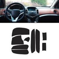 For Chevrolet Classic Cruze 2009 2015 Microfiber Leather Interior Door Armrest / Center Dashboard Panel Cover Sticker Trim