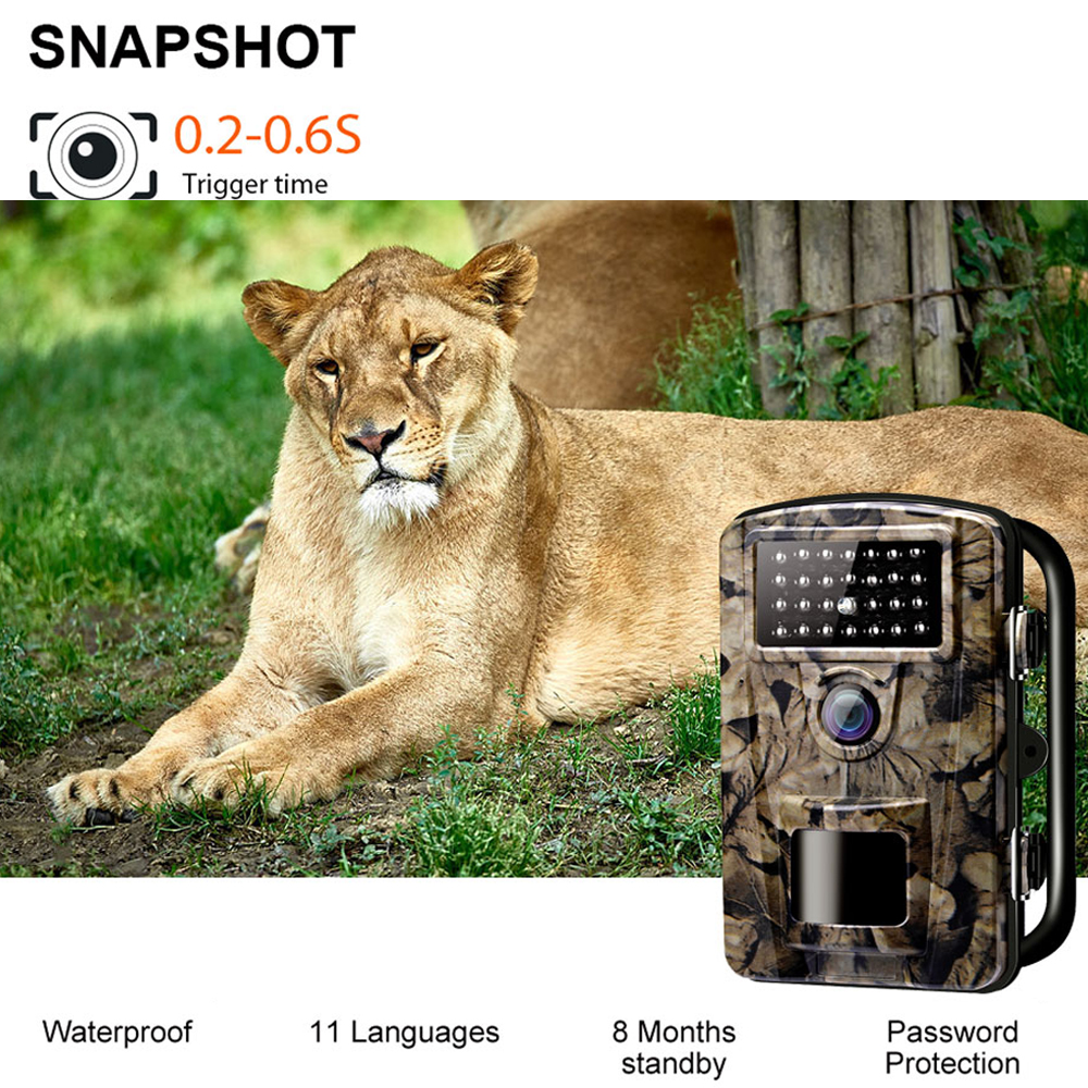 ZECRE PH700A Outdoor IP66 Waterproof Infrared Hunting Camera Night Vision LEDs Trail Camera 12MP 1080P LCD Display Wild CameraZECRE PH700A Outdoor IP66 Waterproof Infrared Hunting Camera Night Vision LEDs Trail Camera 12MP 1080P LCD Display Wild Camera