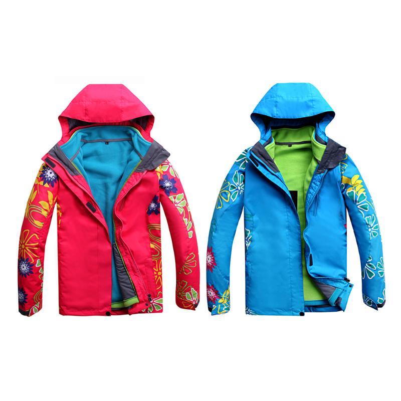 Hiver chaud femmes 3 en 1 Double couche imperméable coupe-vent extérieur randonnée Ski cyclisme vêtements Ski Snowboard neige veste manteau