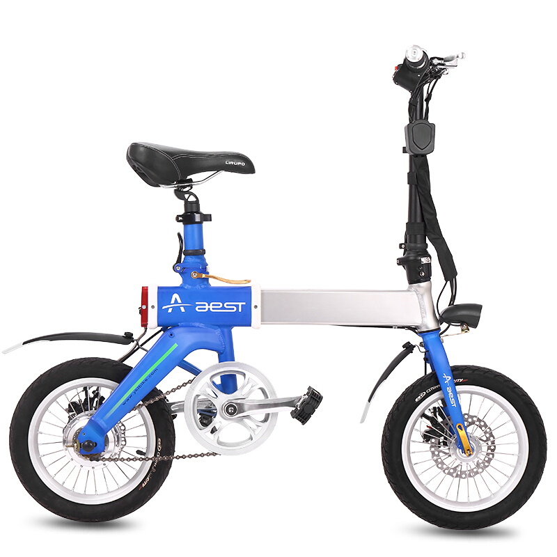 Daibot Portable Electric Bicycle 14 Inch 2 Wheel Electric Bicycle 240W 36V Telescopic Lightweight Mini Folding Electric Scooter