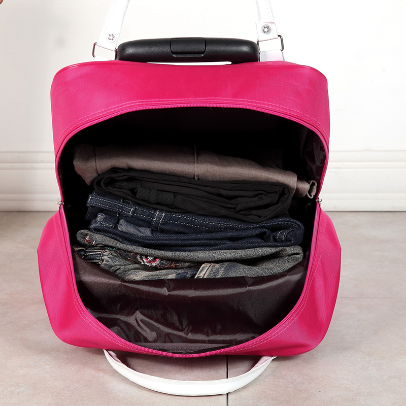 Bolsa de viaje resistente al agua de alta capacidad estilo grueso maleta con ruedas para hombre - 6