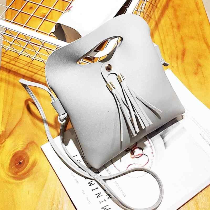 Crossbody Bags For Women Simple Tassels Small Handbags Women Bag Girls Leather Shoulder Messenger Bags bolsa feminina