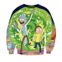 Tops Rick and Morty sweatshirts Men Women kid teens Couple 2018 hip hop Streetwear printed 3d DIY graphic anime O Neck Pullovers