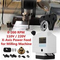 Aluminium Alloy 110V Power Feed X Axis 150 Lbs Torque for Bridgeport Type Larger Torque Milling Machines 0 200 RPM Adjust