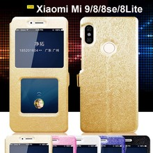 For Xiaomi Mi 9 case Mi9 cover dual window view stand leather for 8 SE phone Lite flip