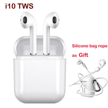 Hot sale! I10 TWS Wireless Bluetooth Touch Earphone Earbuds with Charging Box Mic for Samsung Android Xiaomi I7s iphone