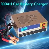 Autoleader Electric Auto Car Battery Charger 12V/24V 100AH Intelligent Pulse Repair Type Various Protections Improved Lead Acid