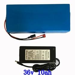 36V 250W 350W 500W akumulator do skutera litowego 36V 10ah akumulator do roweru elektrycznego 36V 10AH akumulator e-bike + ładowarka 2A bezcłowy