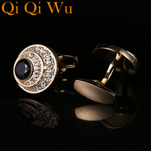 New Mens Gold Party Gifts Wedding Cuff links Shirt Cufflink High Quality Business Button RL-8072 Free Shipping Jewelry Qi Wu