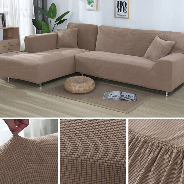 US $52.99 30% OFF| L Shape Sofa Covers Sectional Sofa Cover 2 Pcs Stretch  Sofa Slipcovers For L Shape Couch -in Sofa Cover from Home & Garden on ...