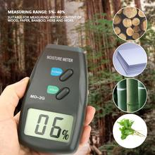 цена на MD-2G LCD Digital Humidity Meter 2 Pin Wood Moisture Meter Vochtmeter Detector Timber Hygrometer High Accuracy Humidity Tester