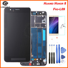 цена на 5.2 Original Display For Huawei Honor 8 LCD Touch Screen with Frame Replacement for HUAWEI Honor 8 Display LCD Honor8 Frd-L09