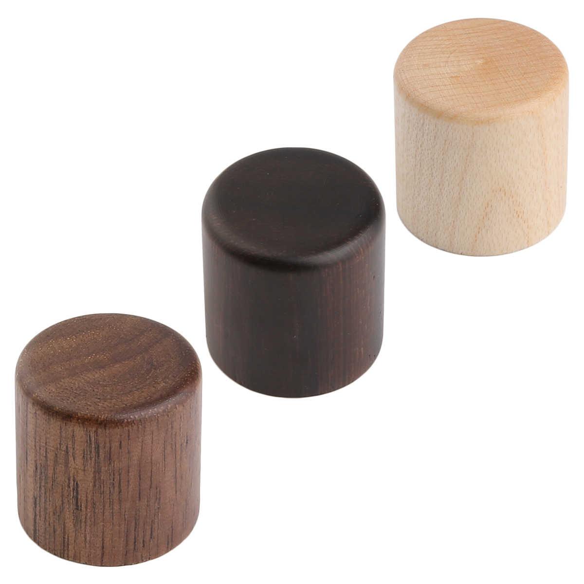 KAISH 2-Pack Wood Knobs Tele Style Flat Top Dome Knobs Guitar Bass Wood Knob Barrel Knobs Maple/Rose/Walnut Wood