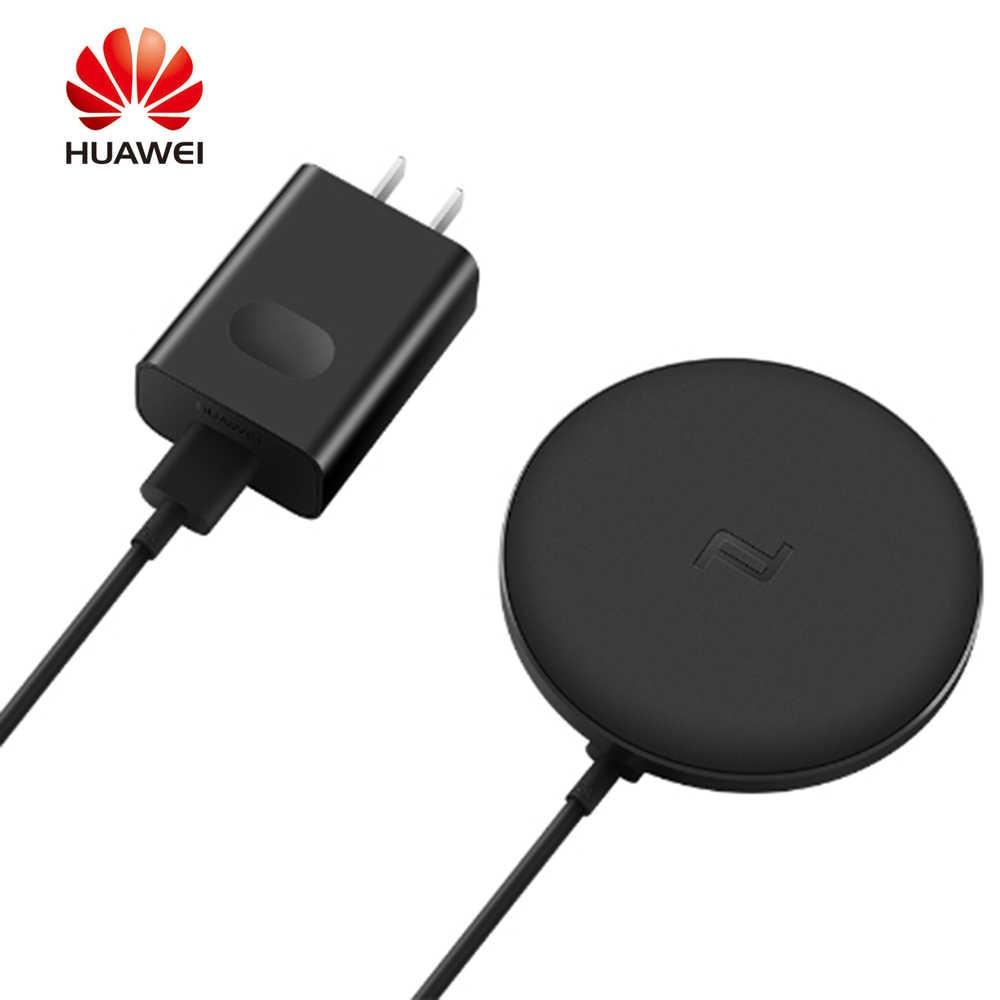 Asli Huawei Portable 10 W Nirkabel Cepat Charger Beberapa Perlindungan Intellogent Induksi Mobile Phone Charger untuk Smartphone
