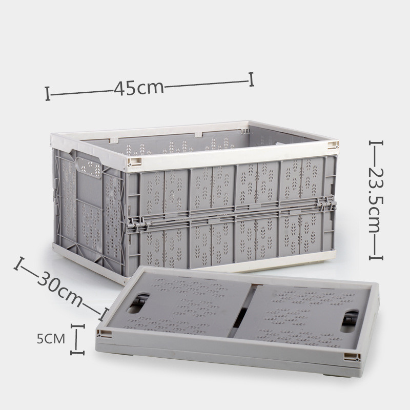 Multi Function Car Folding Storage Box Household Large Capacity Ollow Design Storage Basket Drain Basket in Stowing Tidying from Automobiles Motorcycles