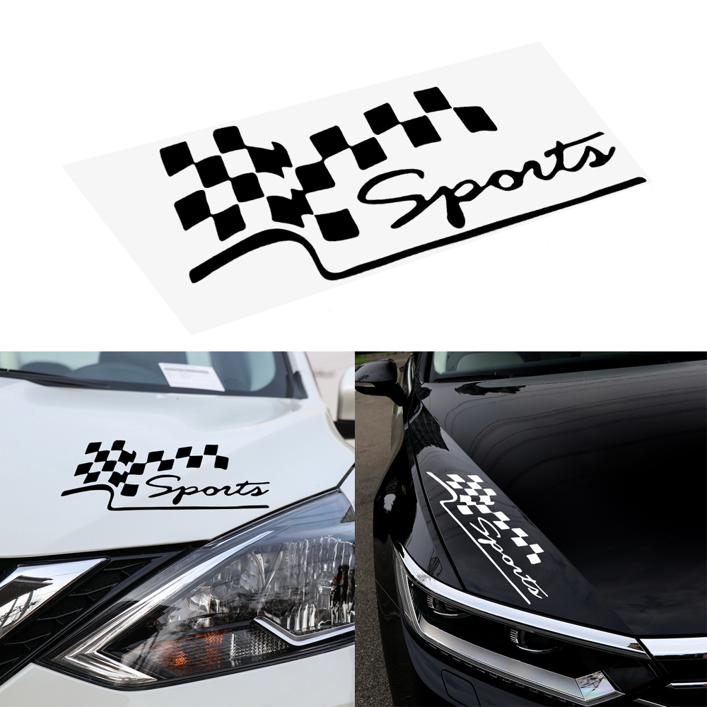 LEEPEE Reflective Vinyl Auto Accessories Motorcycle Car Decal Racing Sports Flag Sticker Car Stickers Funny Auto Decals